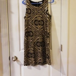 Black and gold sequences blink dress